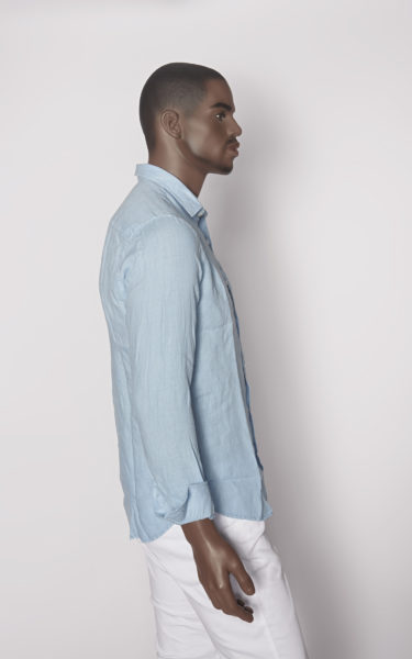camisa lino blue sky side